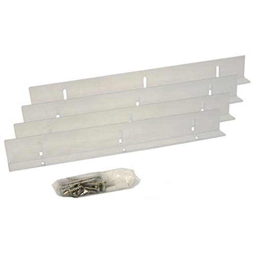 (Ekena Millwork 33 Polycarbonate Mounting Brackets for Composite & Wood Shutters for Width, Clear 4)
