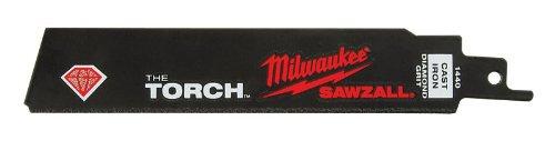 2 each: Milwaukee the Torch Diamond Grit Sawzall Blade (48-00-1440) ()