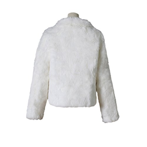 Dingang Abrigo Dingang Mujer Blanco Abrigo Para FO4ww5Yx