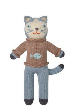 (Blabla Sardine The Cat Mini Plush Doll - Knit Stuffed Animal for Kids. Cute, Cuddly & Soft Cotton Toy. Perfect, Forever Cherished. Eco-Friendly. Certified Safe & Non-Toxic.)