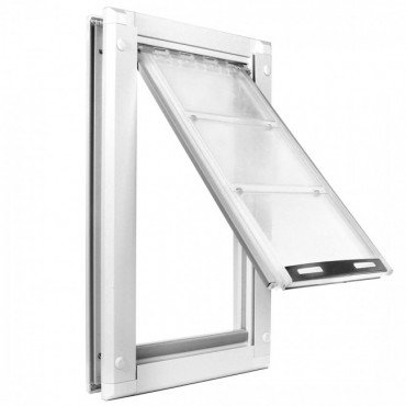 Beau Endura Flap Extra Large Door Mount   White Single Flap 12u0026quot; X 23u0026quot;  Pet