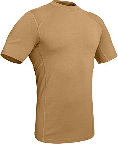 281Z Military Stretch Cotton Underwear T-Shirt - Tactical Hiking Outdoor - Punisher Combat Line (Coyote Brown, X-Large)