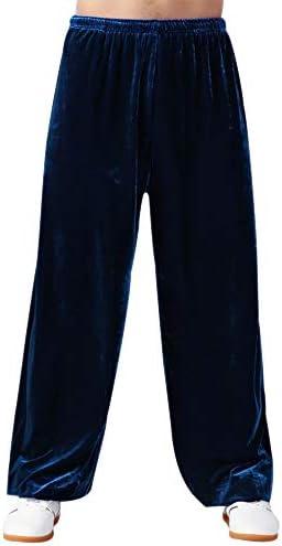 武道のズボン - ユニセックス詠春拳春冬厚いチーゴングルース通気性伝統的なトレーニングブルームパンツ