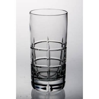 Luxury Home Majestic Gifts Clear Crystal Glass 14-ounce Highball Tumbler (Pack of 4)