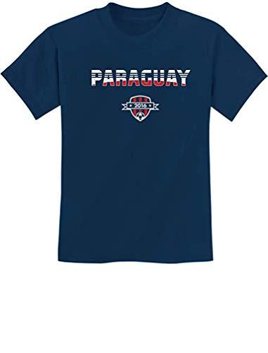 Paraguay National Soccer Team 2016 Paraguayan Fans Youth Kids Novelty T-Shirt Navy ()