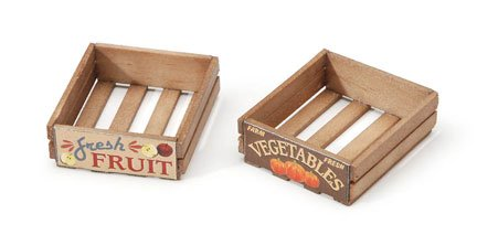 Captivating Amazon.com: Package Of 3 Miniature Fruit Or Vegetable Wooden Crates For  Dollhouses, Crafting And Embellishing: Toys U0026 Games