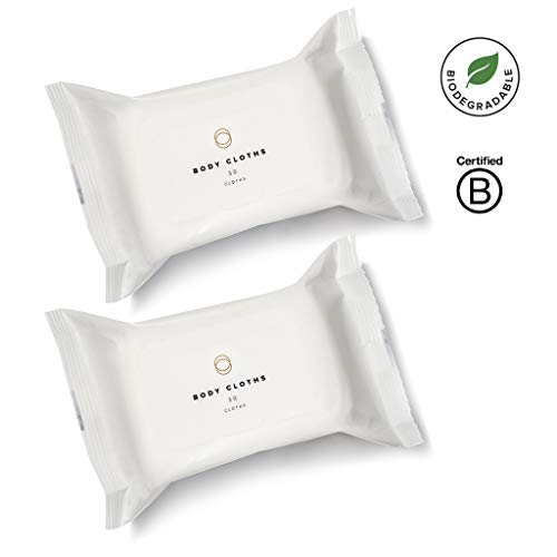 Cora Bamboo Feminine Wipes with Plant-Based Moisturizers and Essential Oils - (2 Pack; 60 Count Total) - Biodegradable Natural Wipes