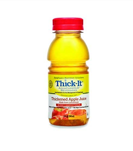 - Thick-It AquaCare H2O: Pre-Thickened Apple Juice, Honey-thick liquid, (1 Case: 24 x 8 oz. Bottles)