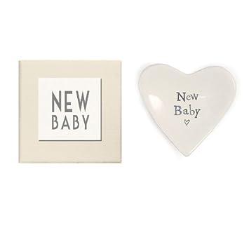 Amazon.com : Nuevo bebé del corazón plato decorativo de la caja de ...