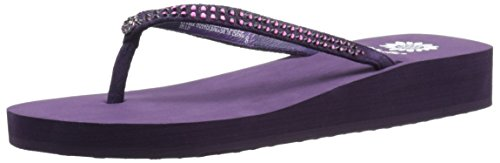 Yellow Box Women's Jello Sandal, Aubergine, 10 M US ()