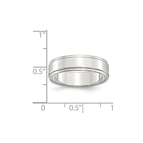 Buy goldia sterling silver 6mm flat edge band