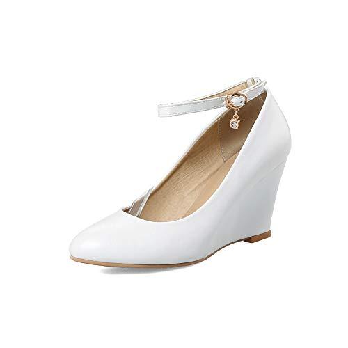 Compensées Sandales AdeeSu SDC05815 Blanc Femme qE5n7wSv
