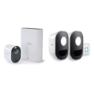 Arlo Ultra - 4K UHD Wire-Free Security 1 Camera System | Indoor/Outdoor Security Cameras with Color Night Vision, 180° View, 2-Way Audio, Spotlight, Siren | Works with Alexa | w/ Arlo Lights (B07RCST3XX) | Amazon price tracker / tracking, Amazon price history charts, Amazon price watches, Amazon price drop alerts