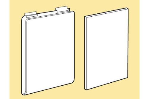 Slatwall Acrylic T-Shirt Display With White Plastic Insert - 12 Sets for Slat Panels