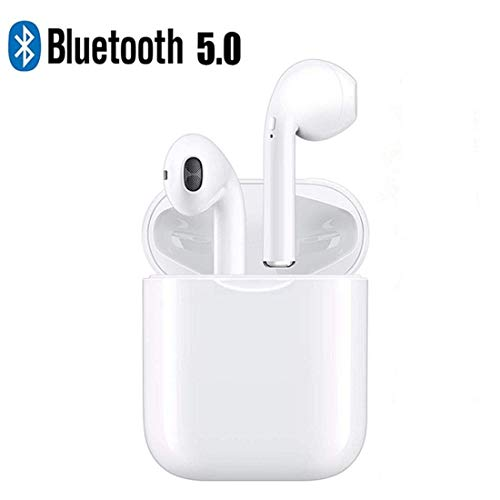 Wireless Headphones, Bluetooth Earbuds True Wireless Earphones Stereo Sports Headsets with Charging Case Noise Cancelling Sweatproof Earpiece for Smartphone