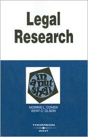 Download Legal Research in a Nutshell 9th (nineth) edition Text Only pdf