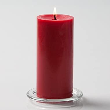 Richland 3  X 6  Hand Poured Red Pillar Candle Set of 6