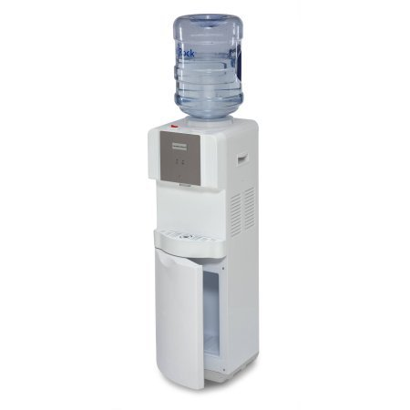 Hamilton Beach TL-1-4W Top Loading Water Dispenser with Storage Cabinet, Hot and Cold Temperatures, White by HamiltonBeach.