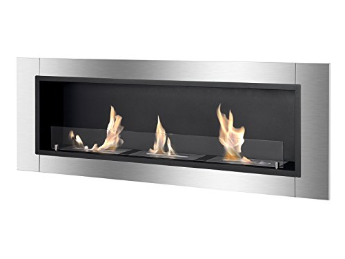 Ignis Ventless Bio Ethanol Fireplace Ardella with Safety Glass - Hanging Gel Fuel Fireplace