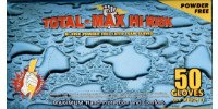 Total Max Hi-Risk Powder-Free Latex Gloves, 15 Mil, Large, 500 Gloves, Emerald 4601