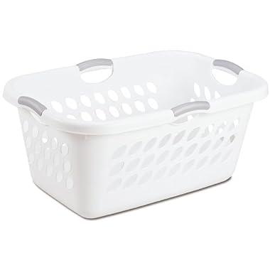 Sterilite 12158006 2 Bushel/71 Liter Ultra Laundry Basket, White, 6-Pack