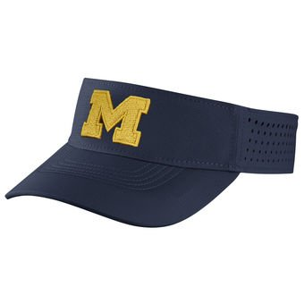 4461bb6b783 Image Unavailable. Image not available for. Color  Air Jordan Michigan  Wolverines Dri Fit Sideline Visor