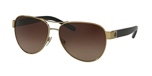 7b520551de6e Tory Burch TY6051 Sunglasses 313313-60 - Gold / Black Frame, Dark Brown  Gradient