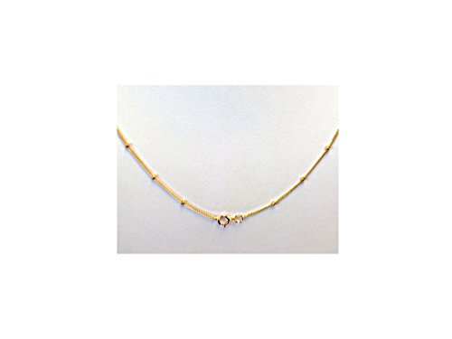 - 18 Inch 14K Gold-Filled Satellite Chain Necklace 1.9 mm Bead