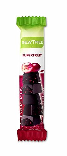 NEWTREE ORGANIC DARK CHOCOLATE SUPERFRUIT SNACK SIZE BAR (5 Snack bars) by NewTree