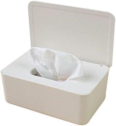 BTFirst ふた付きティッシュボックス インテリアティッシュボックスオフィスティッシュボックス シンプルなファッション長方形のティッシュボックス 家の装飾 白