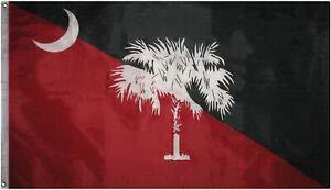 LuxMart 3x5 State of South Carolina Garnet Black Flag 3'x5' Banner Grommets Gamecocks