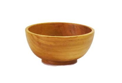 Bamboo Teak Diffuser (Soup Bowl Rice Bowl Teak Wood Handmade Kitchen Dinning Bowls 2 Pieces)