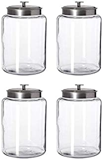 Anchor Hocking Montana 2.5-Gallon Airtight Clear Glass Jar Canister Storage Made