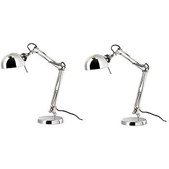Ikea Barometer Work Lamp Nickel Plated E12 Led Bulb Amazon Com