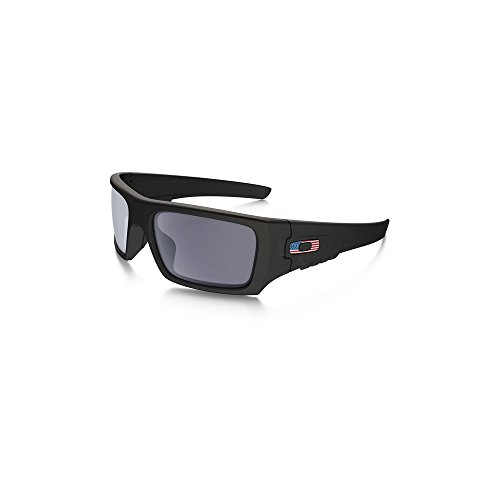 Oakley SI Ballistic Det Cord US Flag Matte Black Frame, Grey Lens - Sunglasses Ballistic Oakley