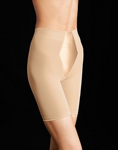 (Flexees 2355M Easy-Up Thigh Slimmer Size Large - Latte Lift Skintone)