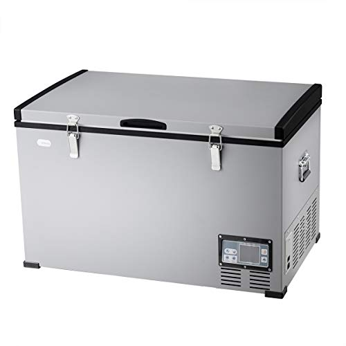 COSTWAY Portable Compressor Refrigerator/Freezer, 79-Quart Compact Vehicle Car Cooler Mini Fridge for Car and Home, Camping, Truck Party, Travel, Picnic Outdoor (79-Quart)