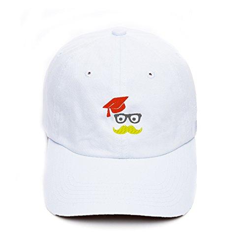 Boy's Watertight Snapback Hats Trucker Caps Personalized Graduation Hat With Mustache and Glasses Custom (Custom Graduation Caps)
