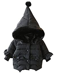 Happy Cherry Unisex Toddler Hooded Cotton Jacket Coat Windproof Warm Padded Down Coat