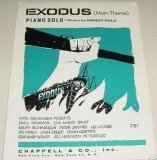 Exodus Main Theme Piano Solo Vintage Sheet ()