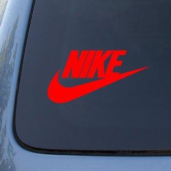 Nike vinyl car decal sticker 1913 vinyl color red