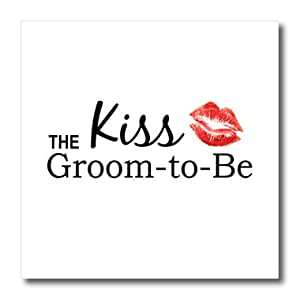 ht_151641_3 InspirationzStore Typography - Kiss the Groom to Be - Bachelor party - stag night fun gifts - pre-wedding partying funny kisses - Iron on Heat Transfers - 10x10 Iron on Heat Transfer for White Material