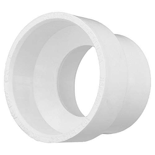 "Charlotte Pipe 1-1/2"" X 2"" Pipe DWV Increaser Reducer PVC DWV (Drain, Waste and Vent) Schedule 40 (Single Unit)"