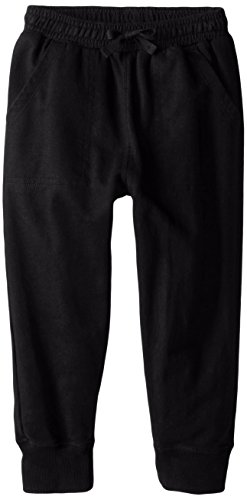 Pants And Willy Boys Wes (Wes & Willy Boys' Little FT Pant with Cuff, Black, 6)