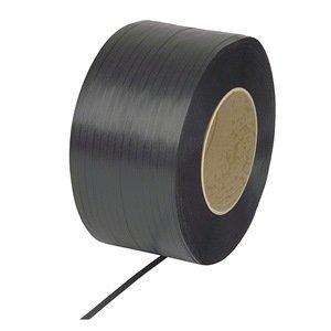 PAC Strapping SP616B-PAC  3/8'' Machine Grade Black Polypropylene Strapping, 12,000' length by PAC Strapping Products
