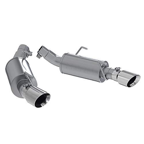 MBRP S7200AL Dual Mufflers Axle Back, Split Rear Exhaust System (Aluminized Steel) (Best Exhaust For Mustang Gt)