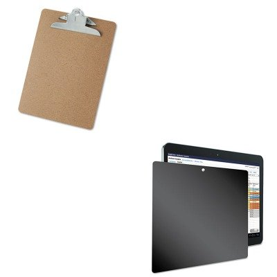 KITKTKSVT4822UNV40304 - Value Kit - Kantek Four-Way Privacy Filter for Samsung Galaxy Tab 10.1 (KTKSVT4822) and Universal 40304 Letter Size Clipboards (UNV40304) by Kantek