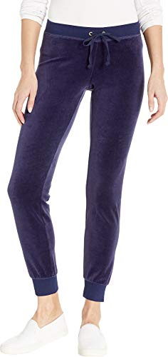 (Juicy Couture Women's Zuma Velour Pants Royal Navy Large 29)
