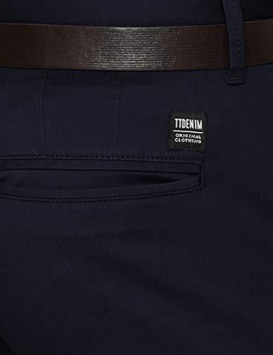 Eclipse Pantalon pour Skinny Tom Chino avec ceinture bleutotalement hommes Denim bleu Tailor 6724 ZXOiPku