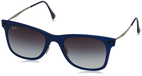 Ray-Ban Men's RB4210 50mm Matte Dark Blue/Grey Gradient - Ray In Ban Usa Made Sunglasses